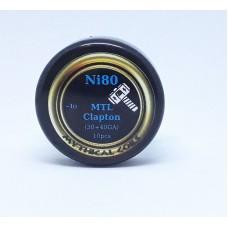 Έτοιμες αντιστασεις  MTL Clapton Ni80 by Mythical Coils