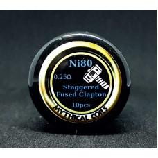 Έτοιμες αντιστασεις Staggered Fused Clapton Ni80  by Mythical Coil
