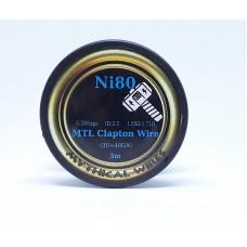Σύρμα MTL Clapton Ni80  Mythical Wires  3m  (Nichrome)