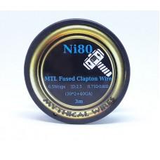 Σύρμα MTL Fused Clapton Ni80  Mythical Wires  3m  (Nichrome)